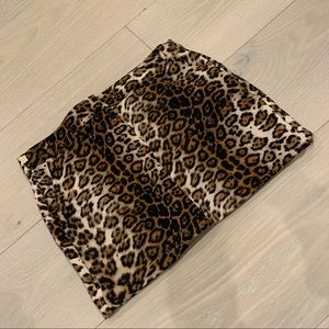 NEW WITH TAGS Olivaceous Leopard Button Mini Skirt